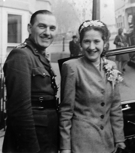 Marriage of Florence Button and Thomas Wilson in 1948