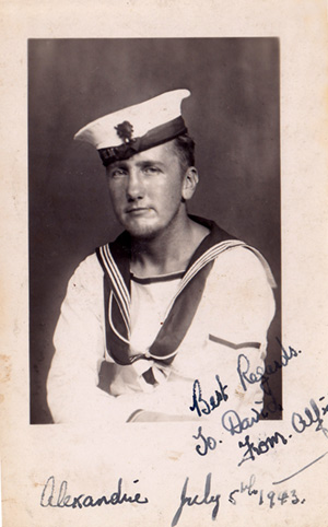 Alf Butler, photographed st Alexandria on the 5 July 1943