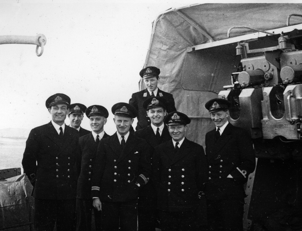 Officers on HMS Middleton