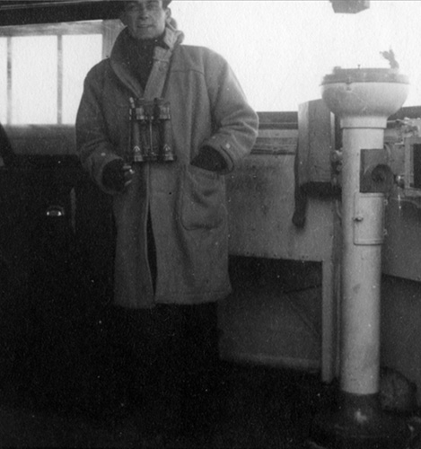 Drek Lawson on Bridge of HMS Beverley
