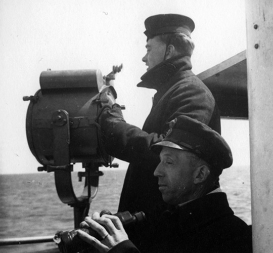 Signal man on HMS Beverley