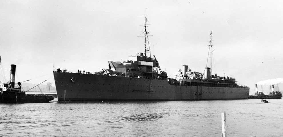 HMS Hecla on the Clyde