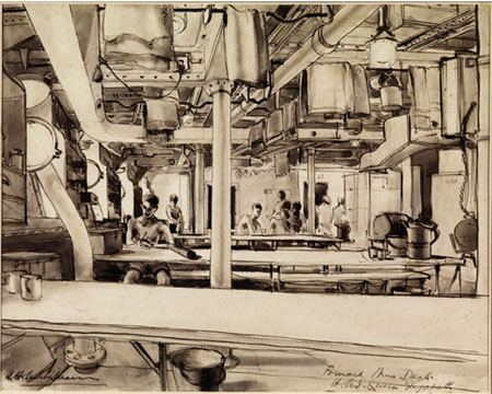 Ink was by Herbery McWilliams of forward mess deck on Queen Elizabeth