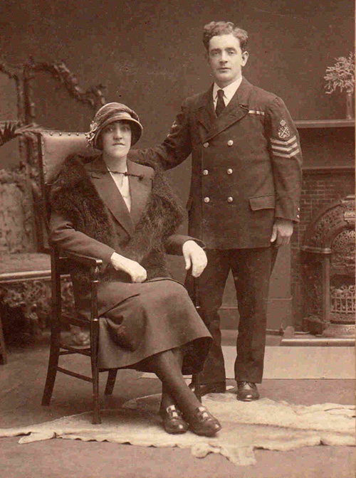 Henry McAulay with wife in late 1920s