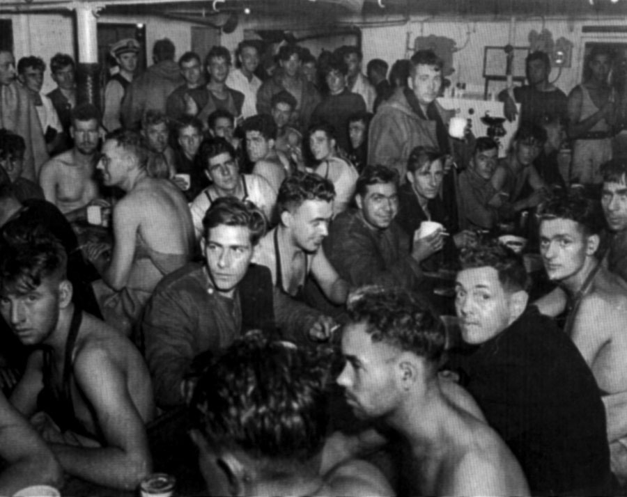 Hecla survivors on USS Augusta