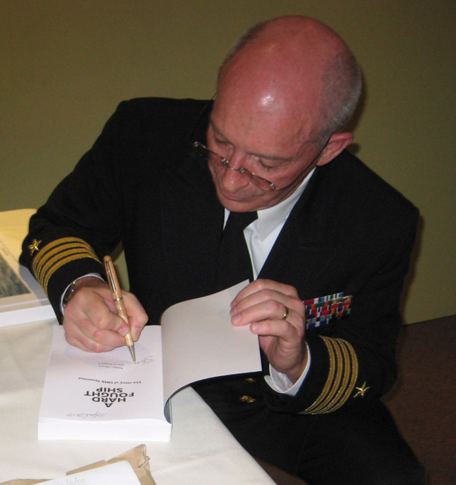 The author signing books at Derby